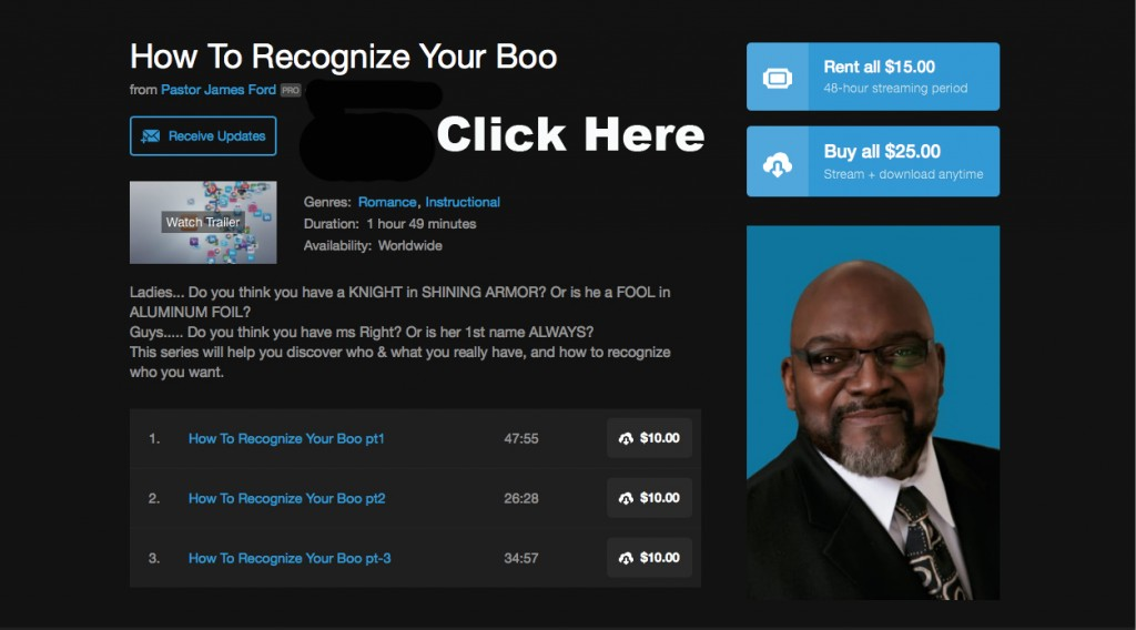 How To Recognize Your Boo - Link to On Demand